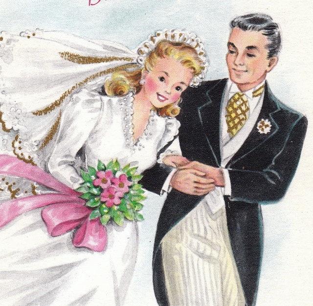 Жених и невеста открытка 18