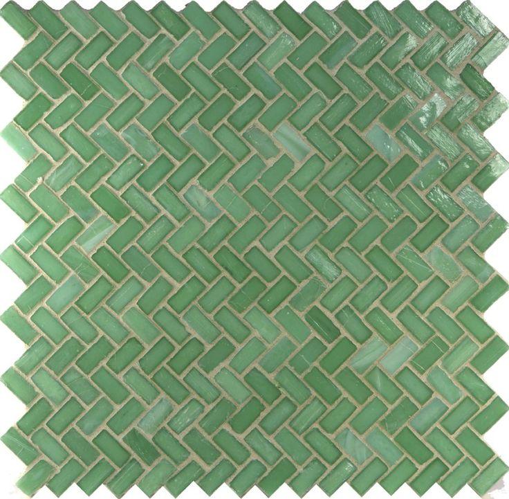Seafoam herringbone tile it looks like beach glass would be great as