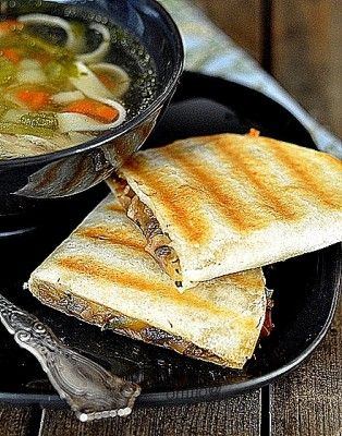 mushroom quesadillas | All things food | Pinterest