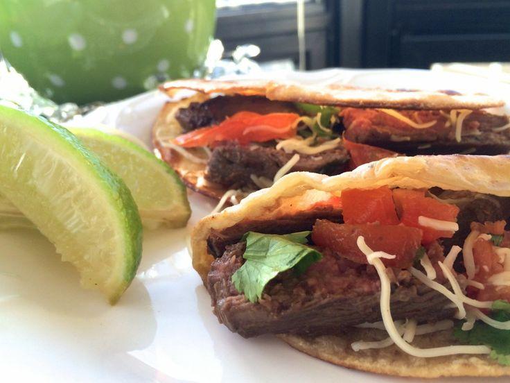 flank steak tacos with cilantro lime marinade via Sassy Eats