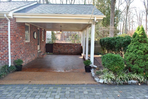 Carport addition to brick house home yard garden for Carport additions