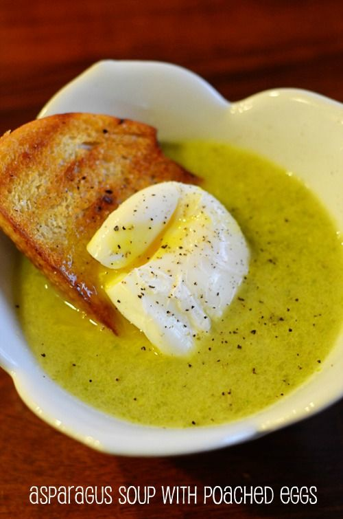 ... eggs green pea and asparagus soup with poached eggs and toast healthy