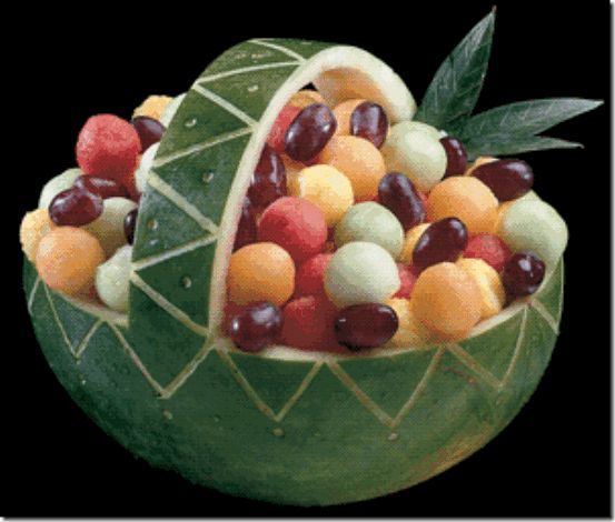 Watermelon fruit basket watermelon basket pinterest for What s in a melon ball drink