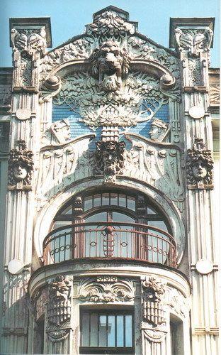 Riga style art nouveau architecture art nouveau for Architecture art nouveau