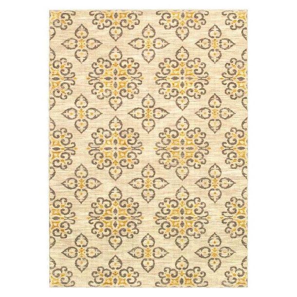 living global tiles area rug gray yellow target living room