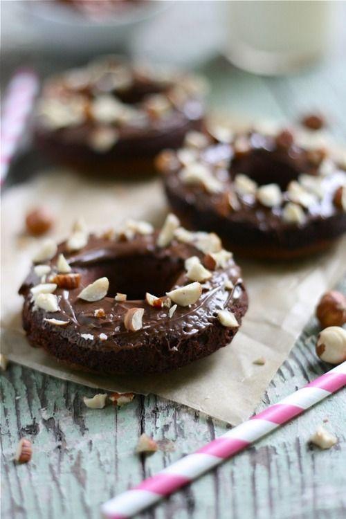 ingredient nutella doughnuts.   《Dounut´s》   Pinterest