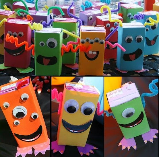 monster juice boxes | Kids- Halloween/ Fall Treats | Pinterest