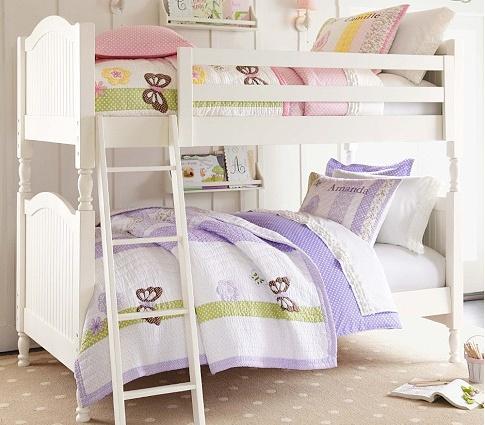bunk beds from pottery barn kids girls 39 room pinterest. Black Bedroom Furniture Sets. Home Design Ideas