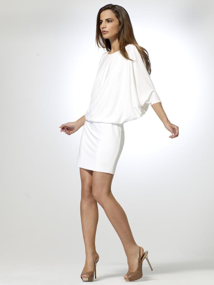 white slit sleeve dress cach extravaganza attire