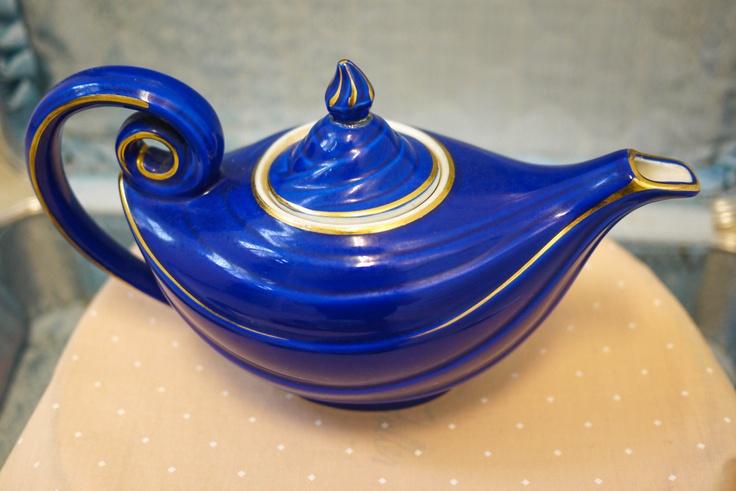 1940 39 s hall cobalt blue aladdin teapot my collections pinterest - Aladdin teapot ...