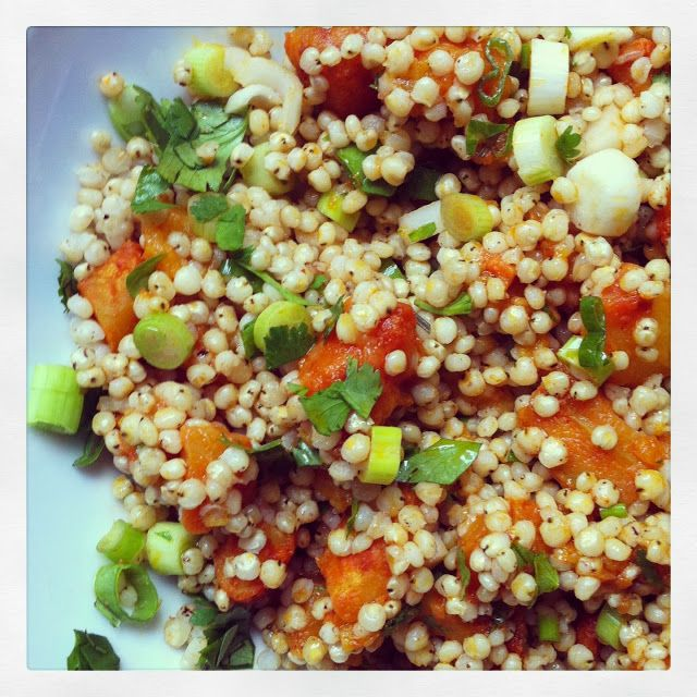 Vanilla Garlic: On Conferences and Sponsors: Curried Sorghum Salad