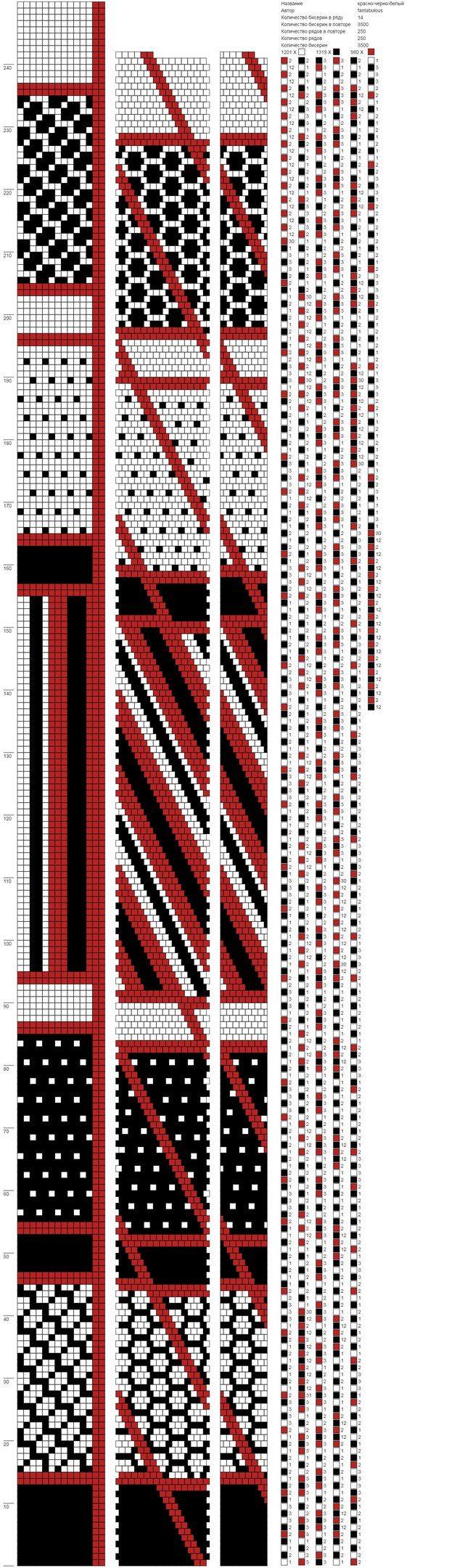 Схемы для вязания жгутов из бисера крючком 2 цвета