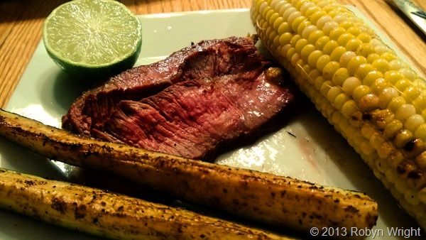 ... Grilled Corn on the Cob and Lime-Cumin Butter and Grilled Zucchini