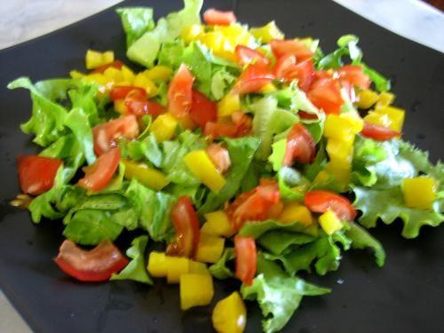 salade tomates poivron et thon food salad pinterest. Black Bedroom Furniture Sets. Home Design Ideas