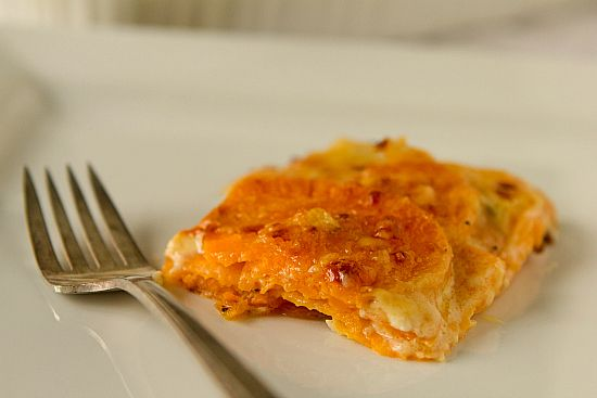 ... in muffin pan for lunch leftovers. Sweet Potato Gratin with Gruyere