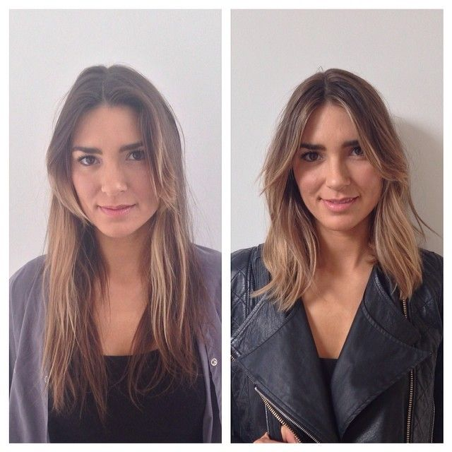 Hair Makeover : before and after, hair makeover, highlights nice transition from one ...