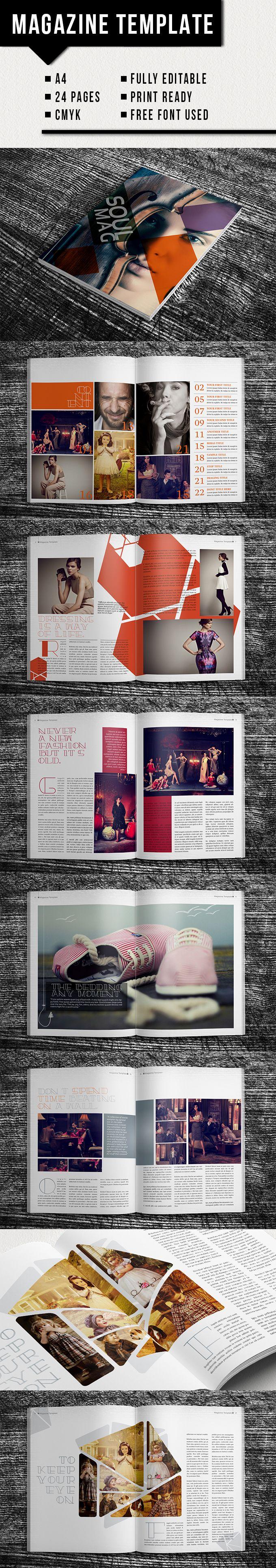 Free Fashion Magazine Layout Templates