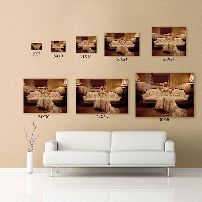 Print Size Comparison Wall Displays Pinterest