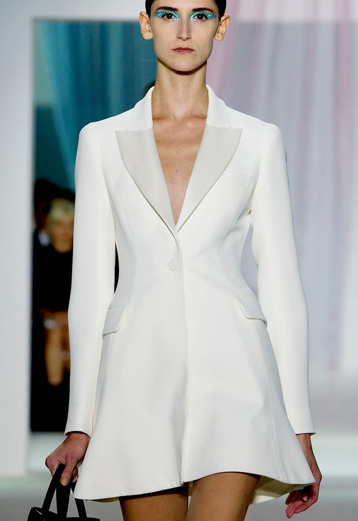 valentino white coat