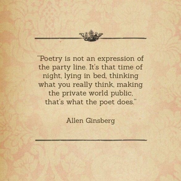 the life and poetry by allen ginsberg In allen ginsberg's poetry allen ginsberg started his infamous life as a revolutionary and poet of the beat generation when he began attending colombia university.
