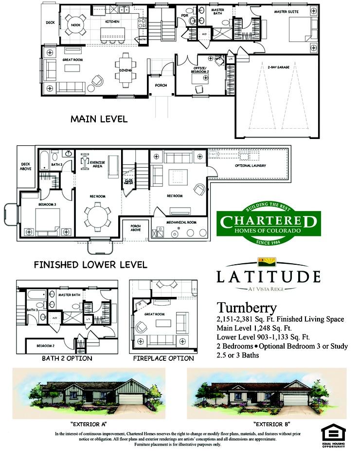 Turnberry Floor Plan | Latitude Floor Plans | Pinterest