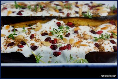 Eggplant with Buttermilk Sauce | Yotam Ottolenghi Recipes | Pinterest