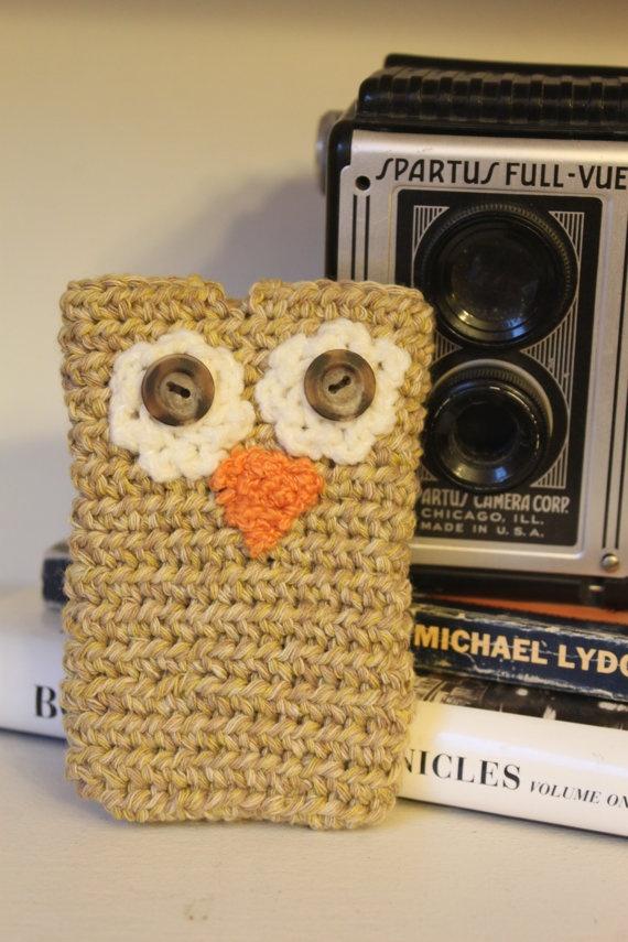 Owl Crochet Cell Phone Case Crochet Patterns Pinterest