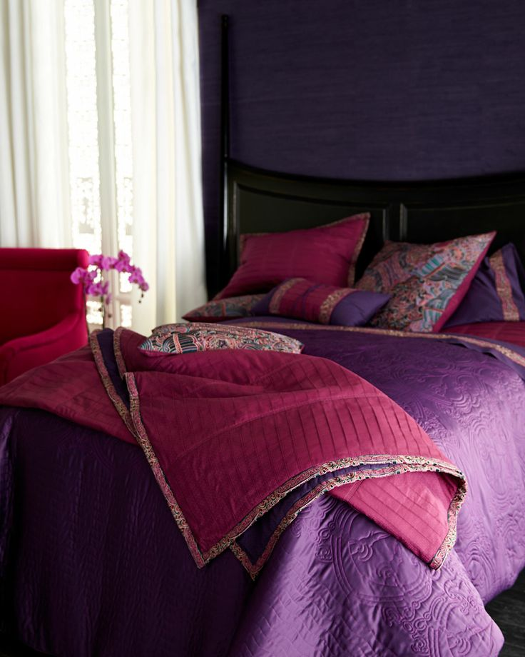 Stunning jewel-tone bedding collection