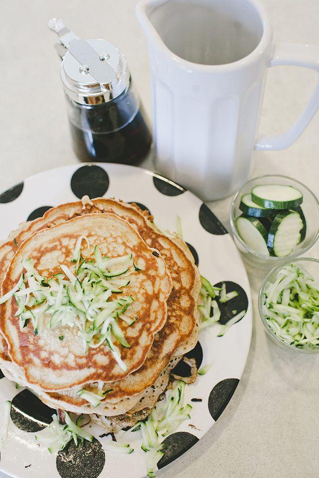 Zucchini Bread Pancakes Recipe | EAT | Classy Treats | Pinterest