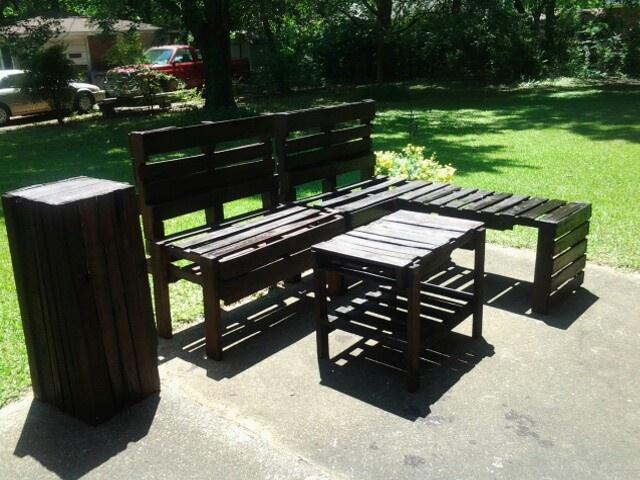 Pallet patio furniture pallets pinterest