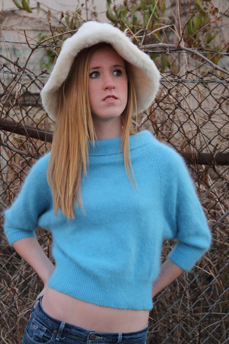 cowl neck short sleeve sweater