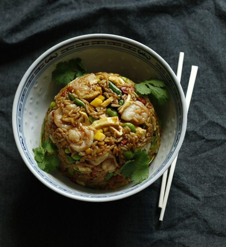 ... Recipe for Arroz Chaufa (Shrimp, Chorizo and Mango Fried Rice