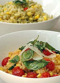 Fresh Corn Risotto with Tomato and Basil | Food and all things for th ...