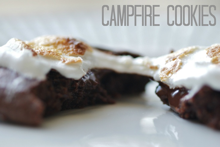 Campfire Cookies: Vegan Chocolate cookies topped with melted chocolate ...