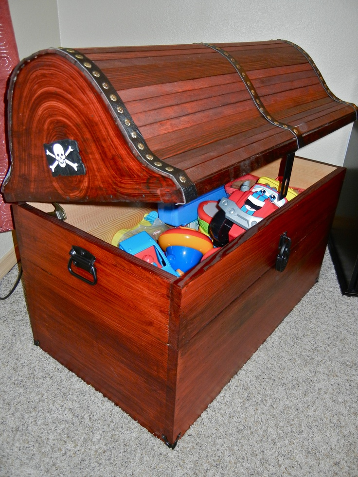 Toy Treasure Chest Beach : Pirate treasure chest toy box nautical nursery pinterest
