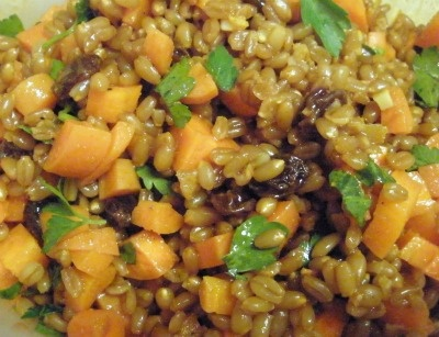 Carrot Raisin Spelt Berry Salad With Cumin And Cilantro Recipes ...