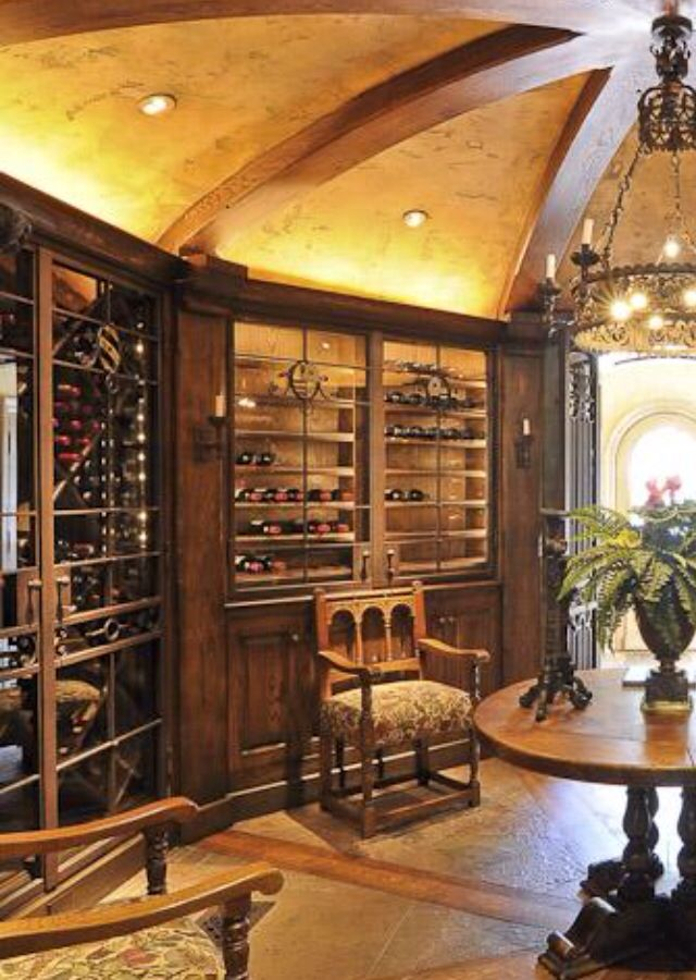 Luxury wine cellar home garden pinterest for Wine cellar pinterest