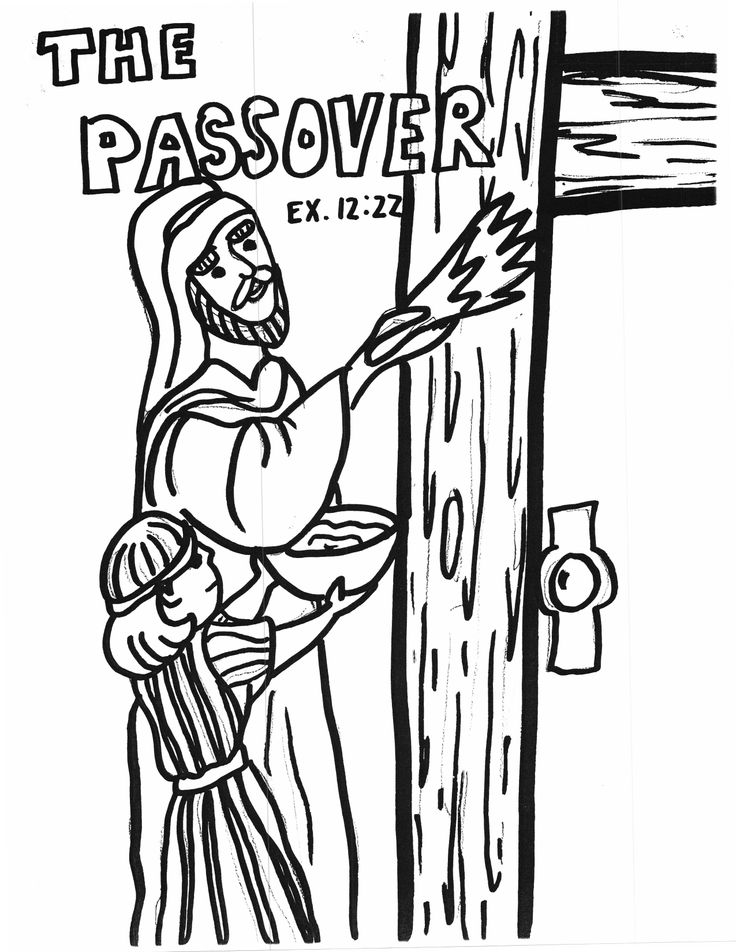 Coloring Passover Easter Pinterest Passover Coloring Pages