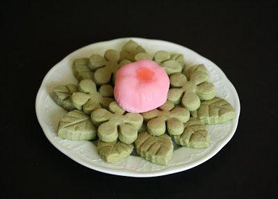 Spring Green Tea Shortbread Cookies | Yummy Things | Pinterest