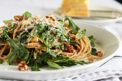 Whole Wheat Pasta with Arugula, Lemon, and Walnuts | Tasty Kitchen: A ...