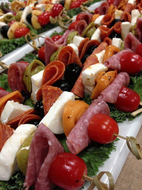 Antipasto Skewers | Hor d'oeuvres | Pinterest