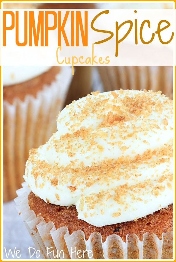 Pumpkin spice cupcakes. This recipe is really good, I've made it twice ...