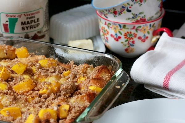 mango crumble breakfast bake | eat, drink, cook | Pinterest