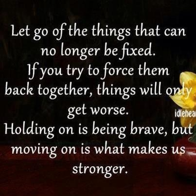 letting go moving on
