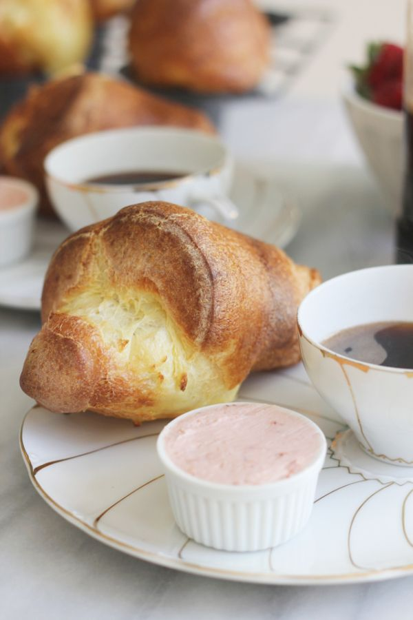 Popovers with Strawberry Butter...just like neiman marcus