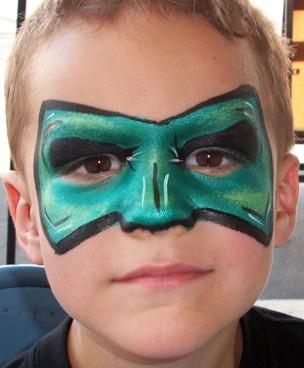 Green lantern mask face paint - photo#23