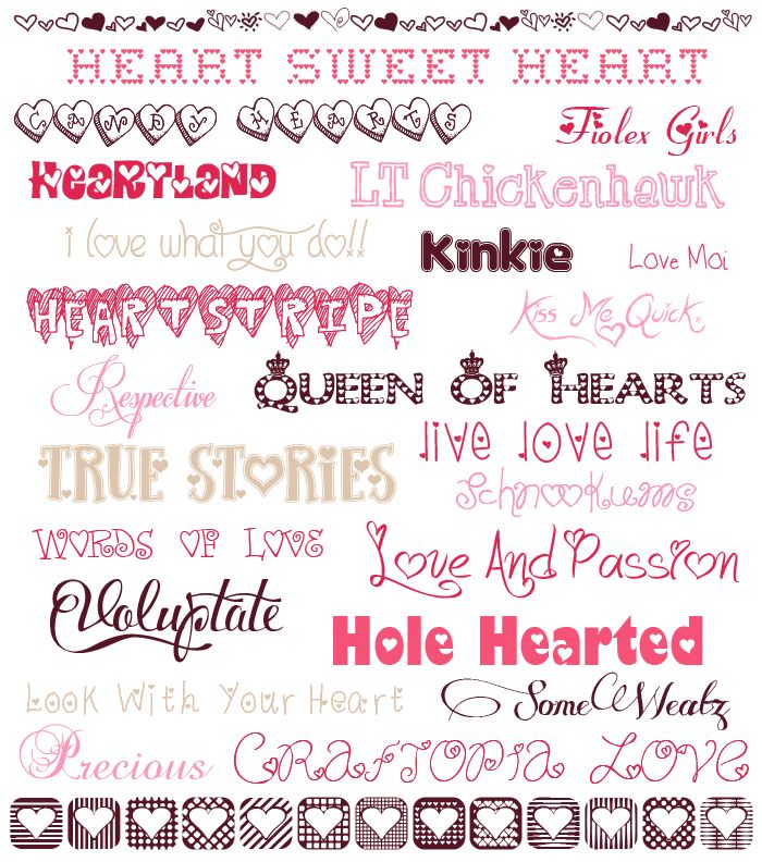 fonts for valentine
