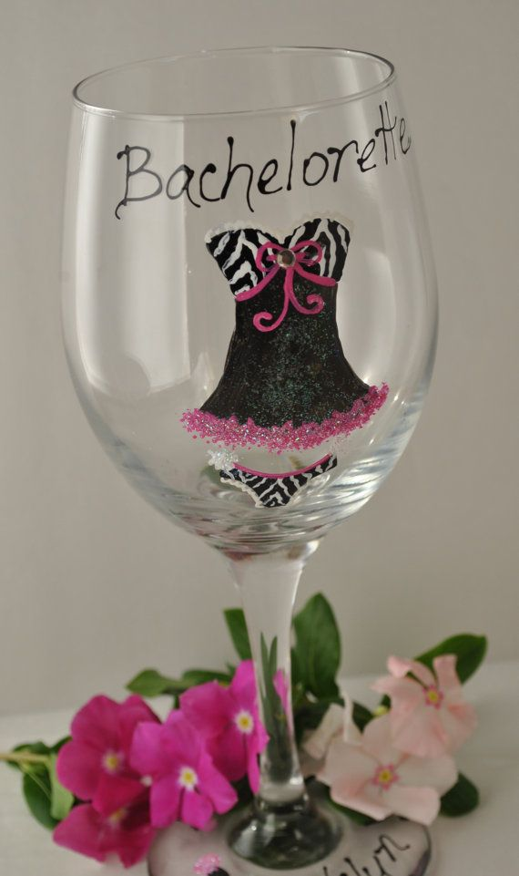 Wedding Wine Glasses Hand Painted Baby Doll by TheToastHostess, $12.00