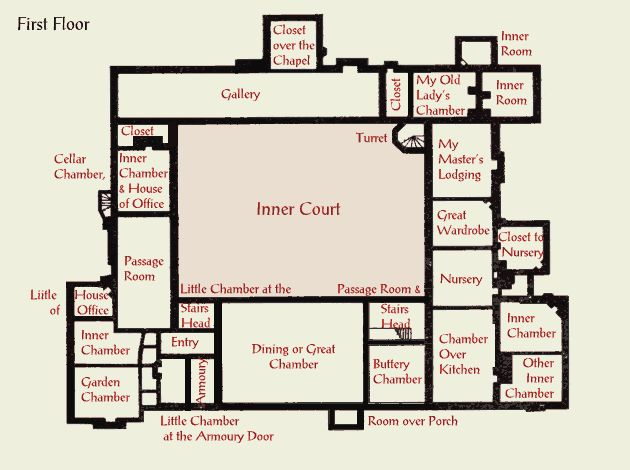 Ingatestone house tudor plan 2nd floor medieval flair for Tudor floor plans
