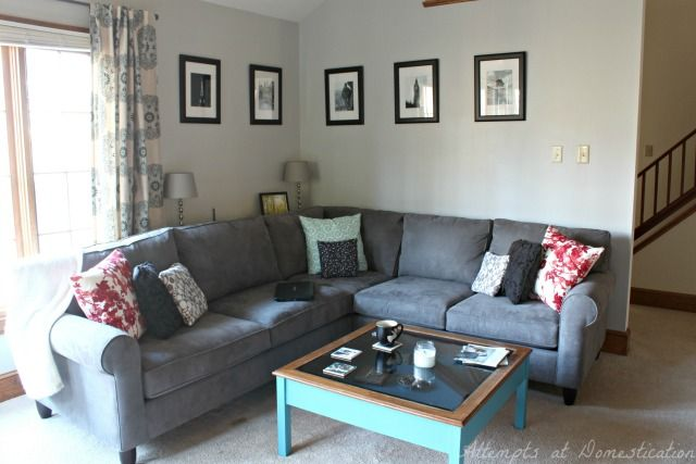 Haverty 39 S Amalfi Sectional In Charcoal Furniture Pinterest